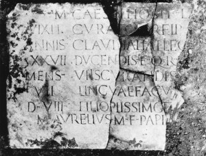 Inscription for Marcus Caesellius. – Image source: http://db.edcs.eu/epigr/bilder.php?bild=PH0008042