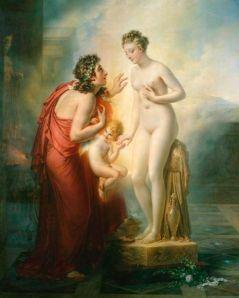 Girodet, Pygmalion et Galatée. –Image source: http://commons.wikimedia.org/wiki/File:Girodet_Pygmalion.jpg.