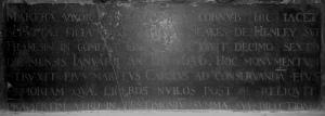 Inscription for Martha Hamley. – Photo (c) PK, 2014.