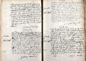 Marriage allegation of Martha Seakes and Thomas Haml(e)y.