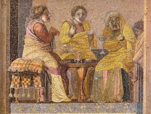 Female 'roles' on a mosaic from Pompeii. – Image source: http://en.wikipedia.org/wiki/Women_in_ancient_Rome#mediaviewer/File:Pompeii_-_Villa_del_Cicerone_-_Mosaic_-_MAN.jpg.