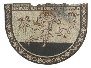 British Proto-Feminism: 'Had Juno seen the bull's attempts at swimming, she'd have been even more justified to visit the halls of Aeolus'. – Image source: http://www.english-heritage.org.uk/daysout/properties/lullingstone-roman-villa/history-and-research/history/4-from-paganism-to-christianity/.