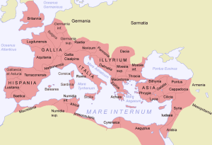 Giving an idea of space: the dimensions of the Roman Empire. – Image source: http://upload.wikimedia.org/wikipedia/commons/c/ca/Roman_Empire_Map.png