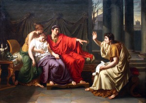 Entertainment for elites: Vergil reading the Aeneid to Augustus. – http://upload.wikimedia.org/wikipedia/commons/8/8c/Virgil_Reading_the_Aeneid.jpg