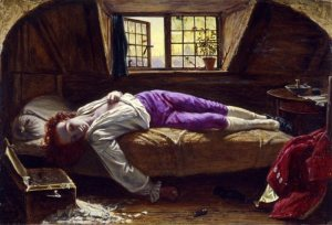 Henry Wallis: The Death of Chatterton. – Image source: http://upload.wikimedia.org/wikipedia/commons/thumb/d/d0/Henry_Wallis_-_Chatterton_-_Google_Art_Project.jpg/1024px-Henry_Wallis_-_Chatterton_-_Google_Art_Project.jpg.