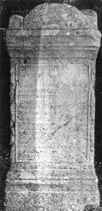 Tombstone from Aeclanum. – Image source: http://db.edcs.eu/epigr/bilder/$IAIrpino_00015_1.jpg.