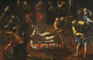 Tintoretto, The martyrdom of St. Lawrence. – Image source: http://upload.wikimedia.org/wikipedia/commons/0/06/Tintoretto.jpg.