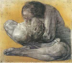 Käthe Kollwitz, Mother with dead child. – Image source: http://upload.wikimedia.org/wikipedia/en/a/ab/Kollwitz.jpg.