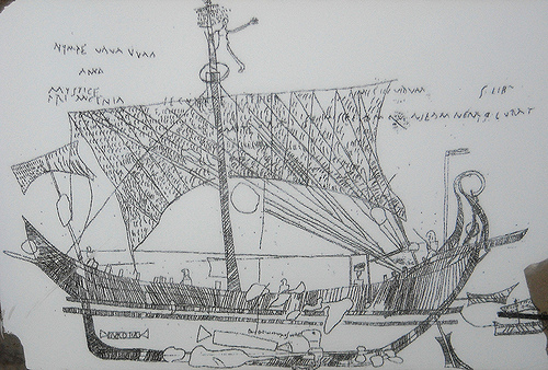 Pompeii: Ship Europa. – Image source: https://farm4.staticflickr.com/3677/10594675213_470e59af6e.jpg.