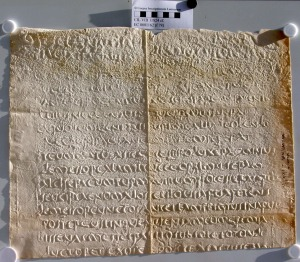Inscription of the Mactar Harvester. – Image source: http://cil.bbaw.de/test06/bilder/datenbank/PEC0001162.jpg.