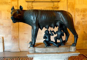 Rome's most iconic mother: the Capitoline Wolf. – Image source: http://upload.wikimedia.org/wikipedia/commons/8/8d/She-wolf_of_Rome.JPG