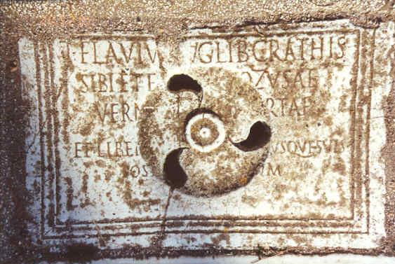 Inscription from Ostia Antica. – Image source: http://www.ostia-antica.org/regio5/2/2-4_2.jpg.