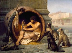 Poverty and morality? Jean-Léon Gérôme, Diogenes of Sinope. – Image source: http://upload.wikimedia.org/wikipedia/commons/thumb/b/b1/Jean-L%C3%A9on_G%C3%A9r%C3%B4me_-_Diogenes_-_Walters_37131.jpg/1024px-Jean-L%C3%A9on_G%C3%A9r%C3%B4me_-_Diogenes_-_Walters_37131.jpg