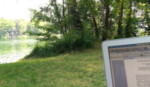 My lakeside office...