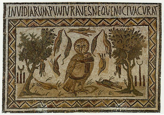 Owl Mosaic, El Jem. – Image source: http://www.reinhardkargl.com/iBlog/owldoesnotcare016.jpg.