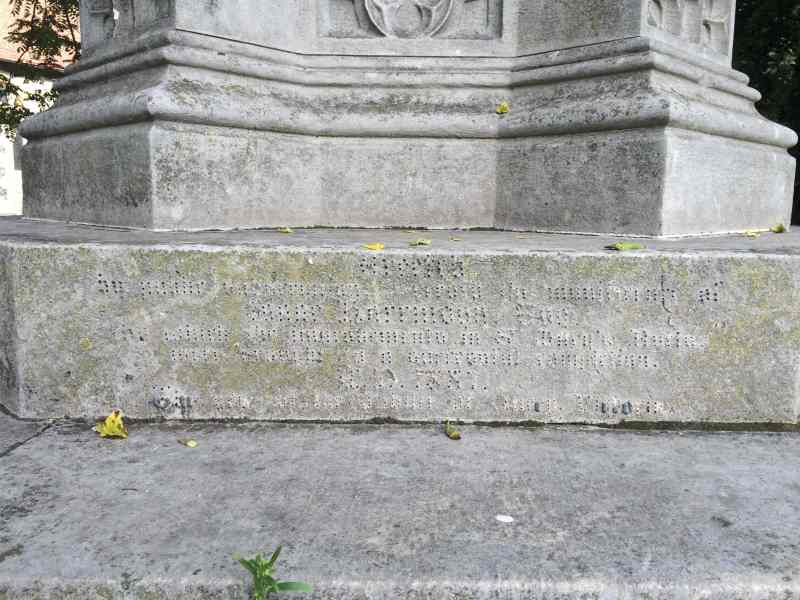 Jubilee Cross, Reading: Inscription. -- Photo: PK, September 2015.
