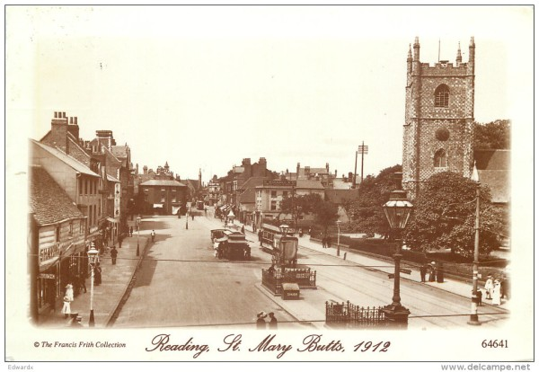 View of St. Mary's Butts, 1912. – Image source here.