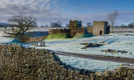 Frosty temperatures at Vindolanda in winter 2014. – Image source: https://twitter.com/vindolandatrust/status/540147824747622400.